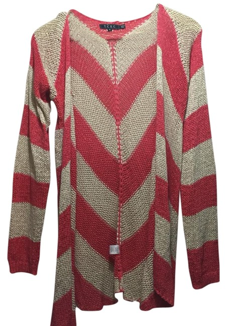 Preload https://item1.tradesy.com/images/tcec-pink-and-cream-sweaterpullover-size-8-m-19543260-0-1.jpg?width=400&height=650