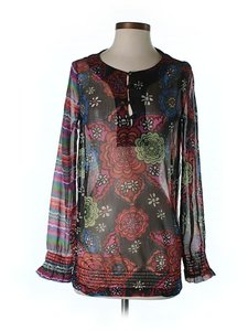 Desigual Graphic Print Top