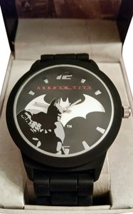 DC Comics New Batman Arkham City DC Comics Black and Silver tone Emblem Watch