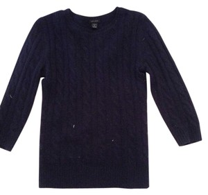 Only Mine Cashmere Navy Cable Knit Warm Sweater