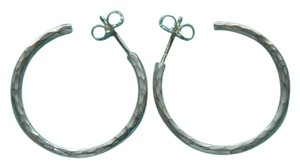 Tiffany & Co. Paloma Picasso Hammered Silver Hoop Earrings