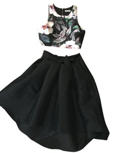 Midi Skirt High Low Taffeta Dress