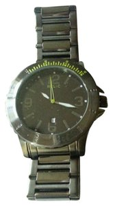 Relic New RELIC by FOSSIL Gresham Gunmetal Stainless Steel Green Watch