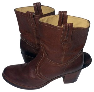 Frye 76400 Jane Jane Trapunto Size 10 Red Boots