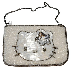 Hello Kitty Hand Beaded Wristlet in White
