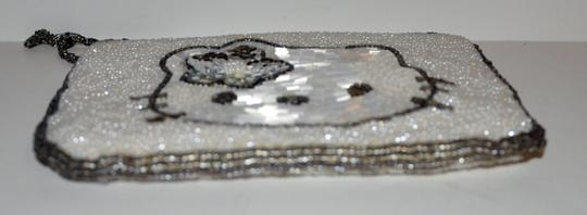 Hello Kitty Hand Beaded Handmade Collectible Wristlet in White