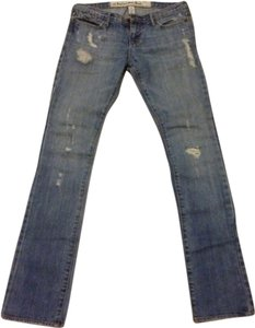 Abercrombie & Fitch X Small 0 Straight Leg Jeans-Distressed