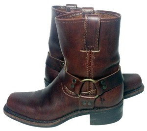 Frye 77455 Harness Size 6.5 Biker Women's 6.5 Brown Boots