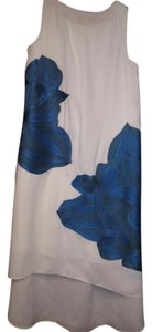 White and Blue Maxi Dress by Anthropologie