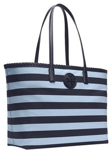 Tory Burch Nylon Tote in Tory Navy Classic Awning Stripe Combo B