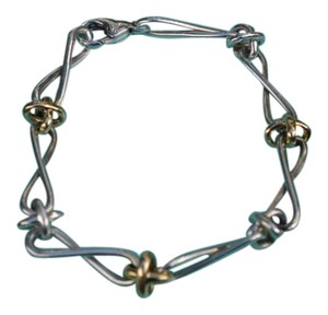 Tiffany & Co. Tiffany and Co. Paloma Picasso Silver, Yellow Gold, Twist Bracelet