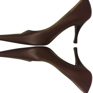 Bruno Magli Brown with wood heel Pumps