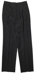 Valentino Wool Straight Pants Black