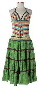 BCBGMAXAZRIA short dress Silk Rainbow Striped on Tradesy