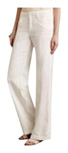 Anthropologie Wide Legs Linen Off White Neutral Pants