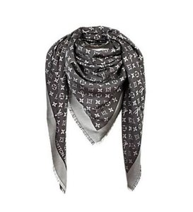 Louis Vuitton Louis Vuitton NEW Monogram Black Denim Shawl Scarf
