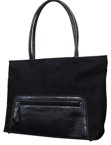 Franco Sarto Nylon Leather Large Casual Tote in Black