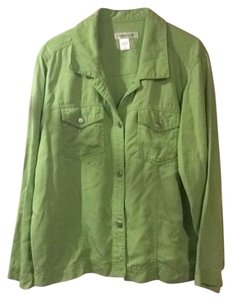 Coldwater Creek light green Womens Jean Jacket