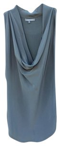 Emerson Thorp Cowl Neck Silk Top Gray