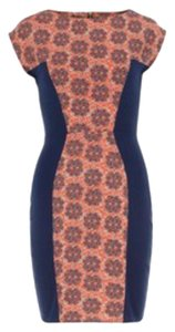 Other Bodycon Colored Short Sleeves Above Knee Dress