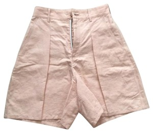 Theory High Waisted Darted Dress Shorts Light pink