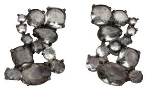 J.Crew Gunmetal Crystal Cluster Earrings