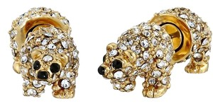 Kate Spade NEW Kate Spade Cold Comforts Polar Bear Stud Earrings - 12k Gold