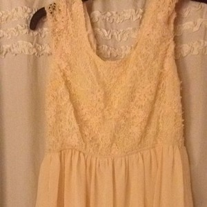 Papaya short dress Cream on Tradesy
