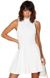 Nasty Gal short dress White Sleeveless Sporty A-line on Tradesy