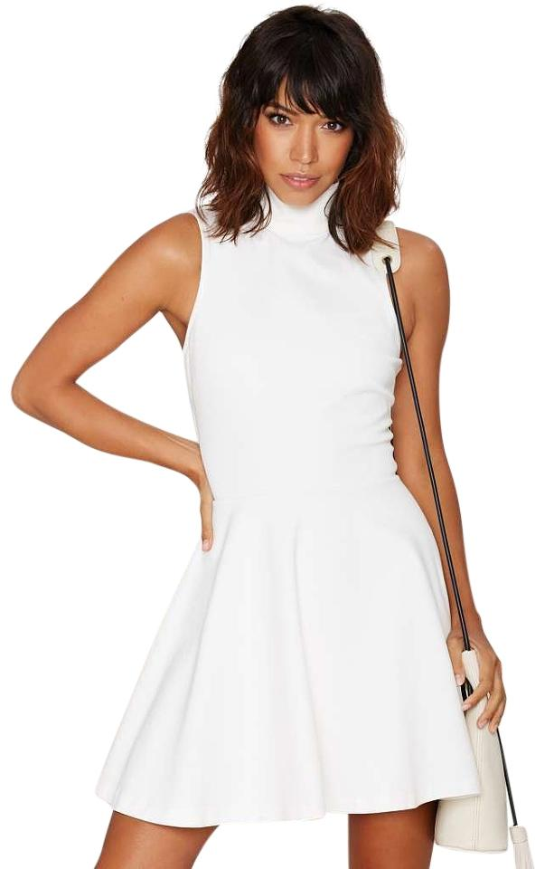 Nasty Gal Short Dress White Sleeveless Sporty A Line Fit And Flare Little On Tradesy