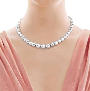 Tiffany & Co. Tiffany & Co. Graduated Bead Necklace Sterling Silver 16