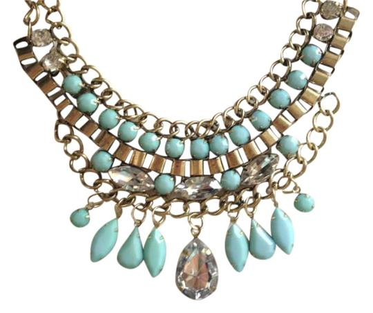 Urban Outfitters Mint Rhinestone Necklace