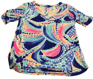 Lilly Pulitzer Top MULTI OCEAN JEWELS