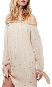 Free People short dress Peach cream on Tradesy