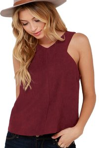 Lulu*s Top Burgundy