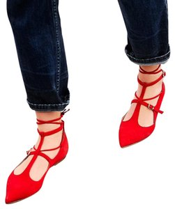 Free People Red Flats