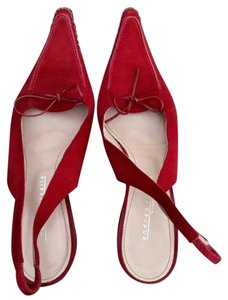 Andrea Rivalta Red suede Pumps
