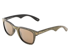 Jimmy Choo Carrera by Jimmy Choo 6000 Sunglasses Black Gold Glitte