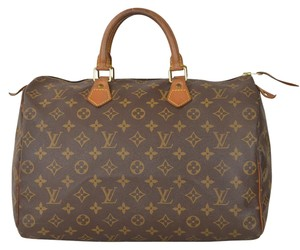Louis Vuitton Lv Speedy 35 Satchel in Brown