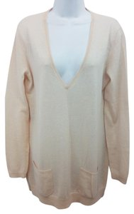 Ann Taylor Pink Cashmere Knit Sweater