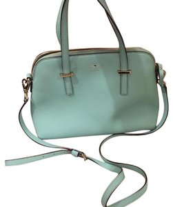 Kate Spade Leather Bright Classic Satchel in Robin's Egg Blue