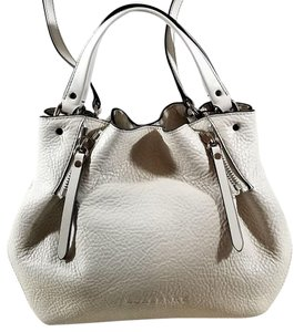 Burberry Leather Satchel in White