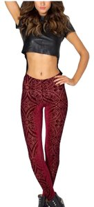 Black Milk Clothing Maroon Leggings