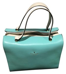 Kate Spade White Gold Details Dust Tote in turqoise