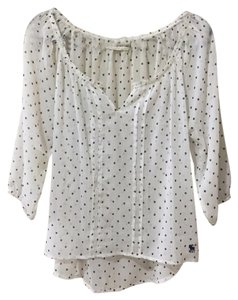 Abercrombie & Fitch Top Navy, white