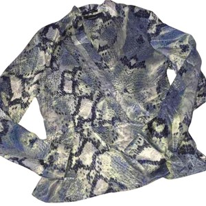 Jones Wear Top Blue Green Grey Silver Animal