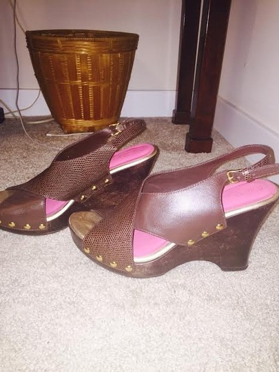 Lilly Pulitzer Brazilian Brown Wedges