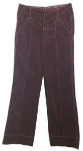 Free People Burgundy Velvet Pants