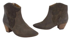 Isabel Marant Distressed Taupe France Gris Boots