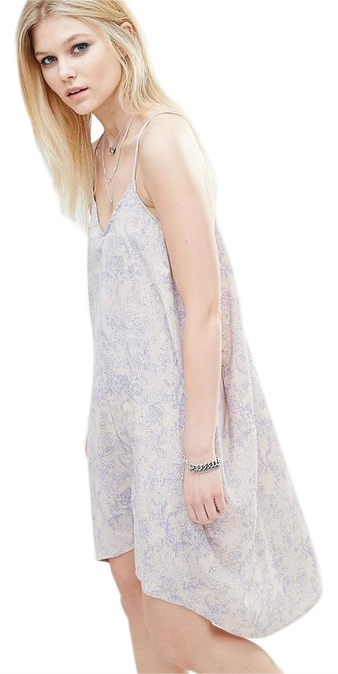 436c9e9d Noisy May short dress Blue Beige Zara Free People Topshop For Love And Lemons  Stone Cold ...